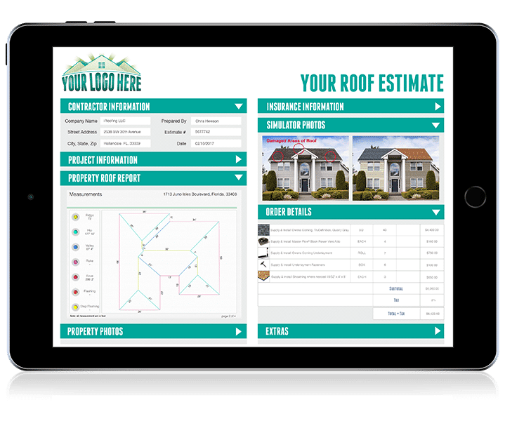 Roof Estimator Tool