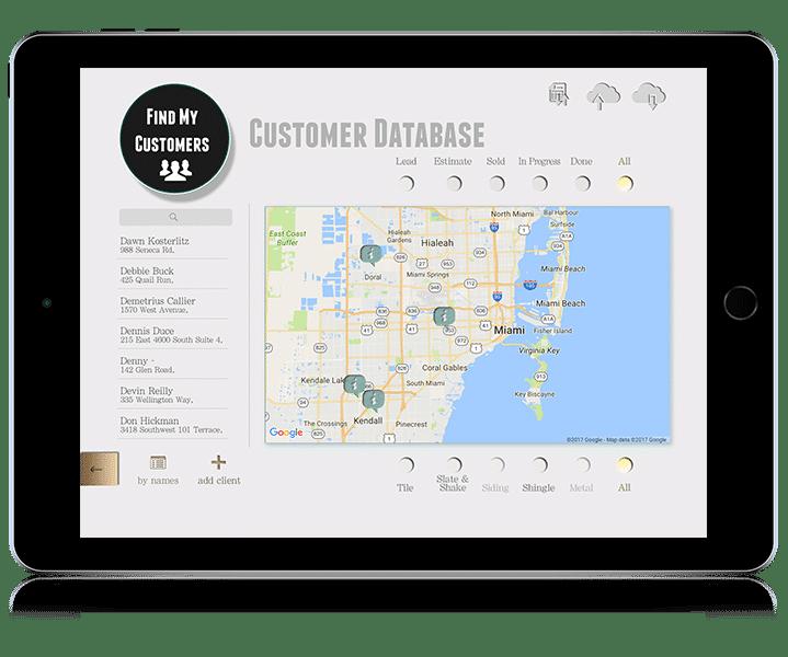 Customer Database iPad roofing