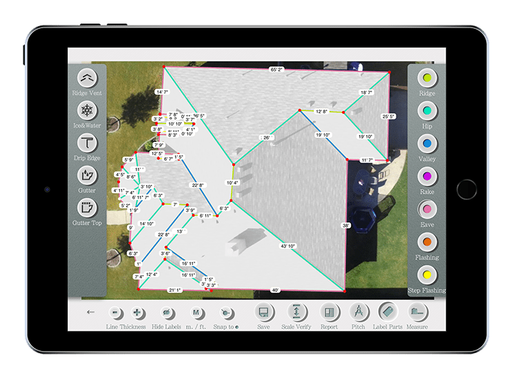 roof Measurement Tool iPad