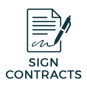 sign roofing contracts