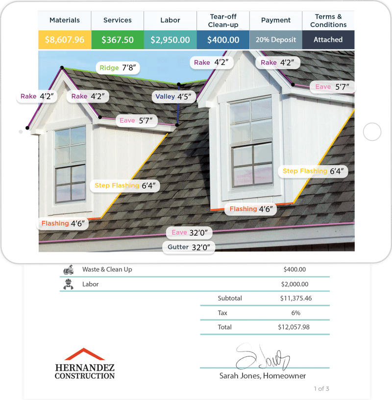 roof estimator app