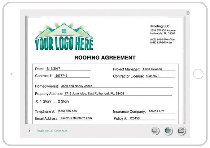 Digital Roofing Contracts - Upload Your PDFS For Easy Signin