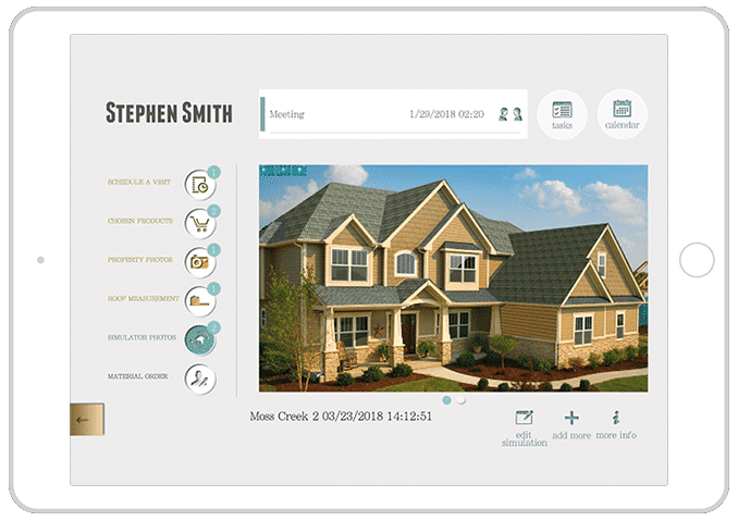 roofing app CRM leads