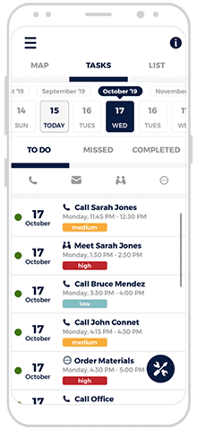 roofing crm phone app