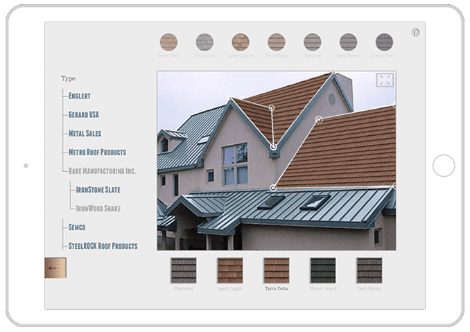 roofing catalog software