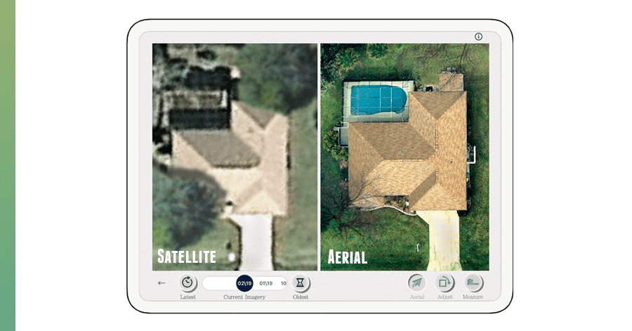 clear roof aerial