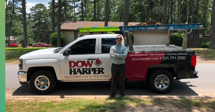 dow harper roofing truck