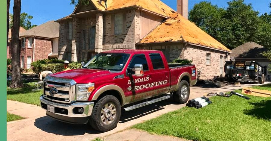 handals roofing truck