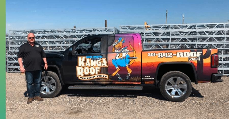 kangaroof roofing truck