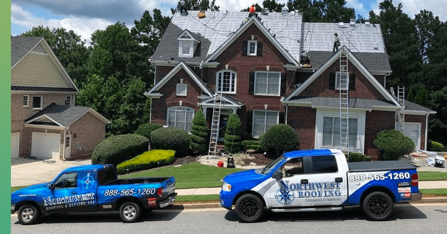 northwest roofing truck