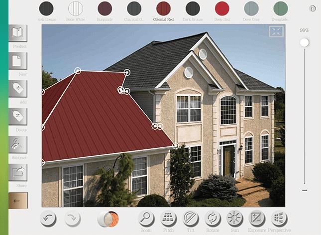 metal roof colors simulator