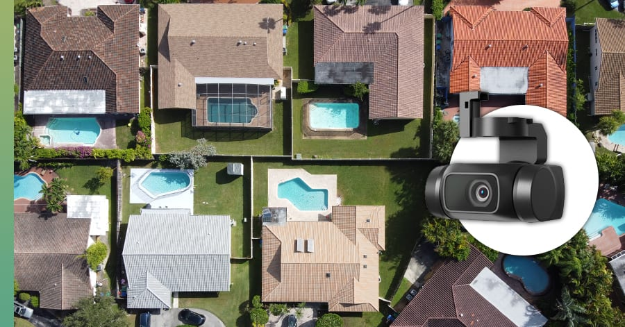 roof drone imagery
