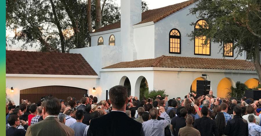 House with Tesla shingles