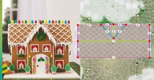 gingerbread house aerial