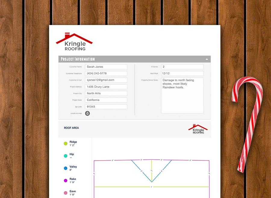 measurement roof report