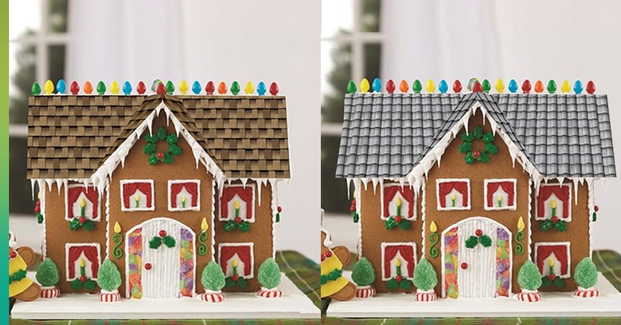 gingerbread house simulated