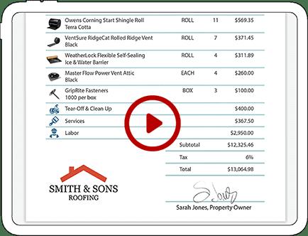 roof estimate tutorial video