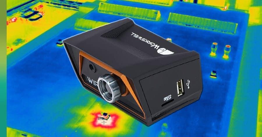 Drone heat sensitive camera