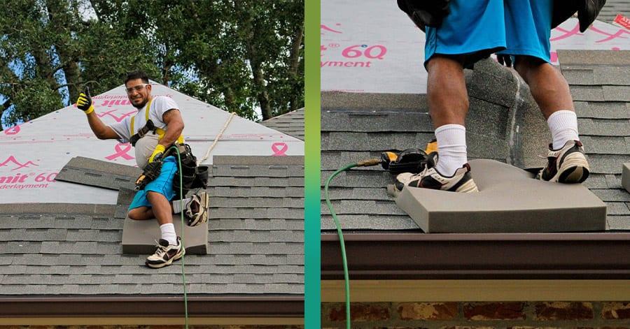 Non slip roof mat