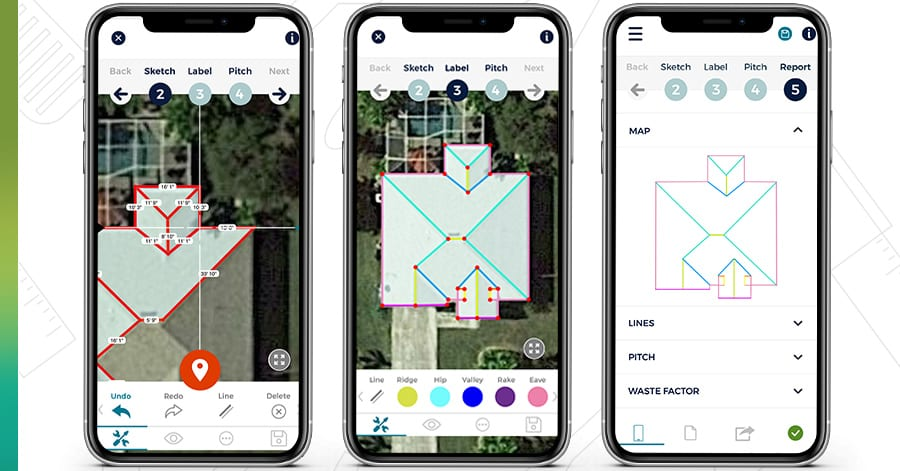 iphone app measure roofs
