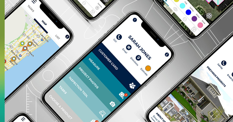 iphone app for roof sales