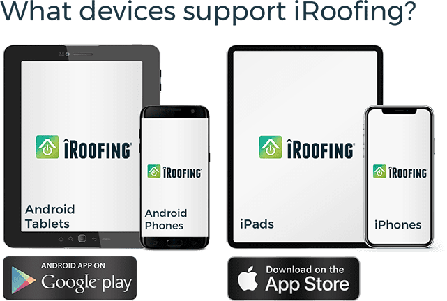 iRoofing app Devices