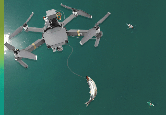 fishing drone and roofing
