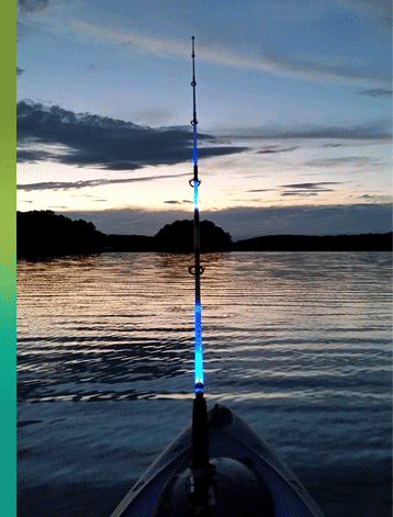 glow fishing rods roofers