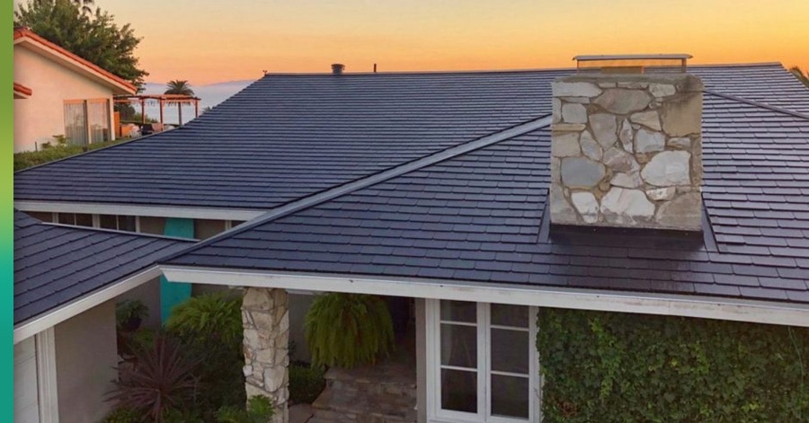 tesla roof on a house