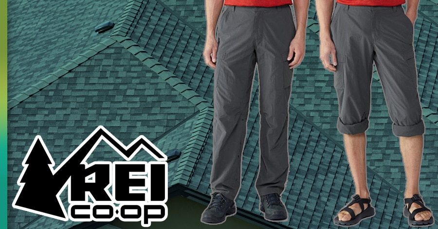 REI pants for roofing
