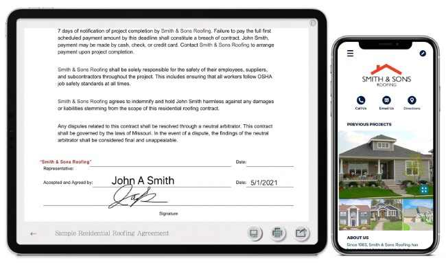 roofing contract app