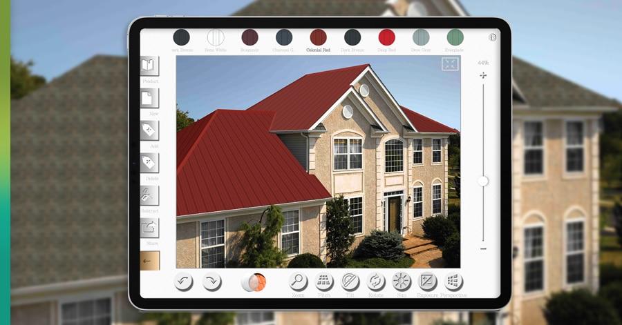 visualize roof shingles